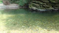 嵐山渓谷の澄んだ水面