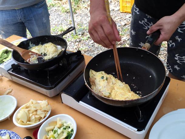 埼玉嵐山渓谷自然体験学習スペイン料理川遊スペインオムレス