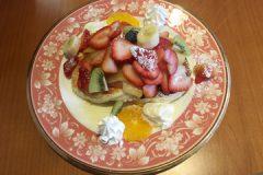 浅草茶房のフルーツパンケーキ