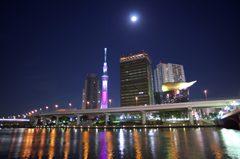 隅田川テラスの夜景