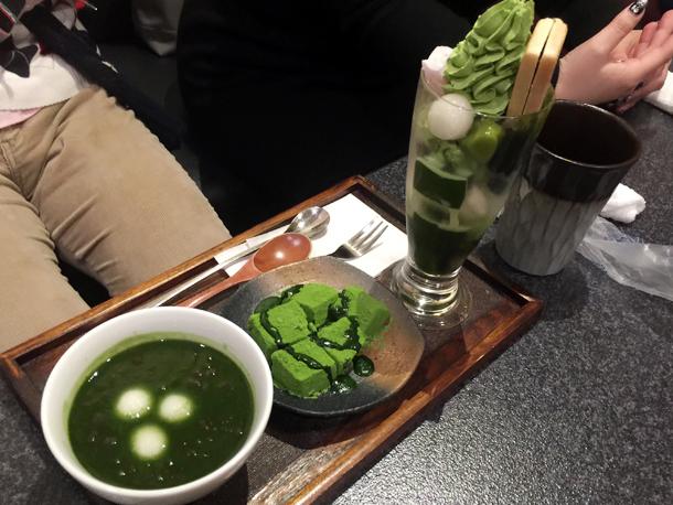 日本橋人形町の抹茶わらび餅
